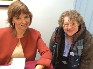 Nora Roberts and I great moment for me - I love all her books and her ability to bring characters to life.