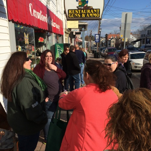 Standing in line for the April 2015 book signing event at Turn The Page Bookstore Cafe in Boonsboro MD