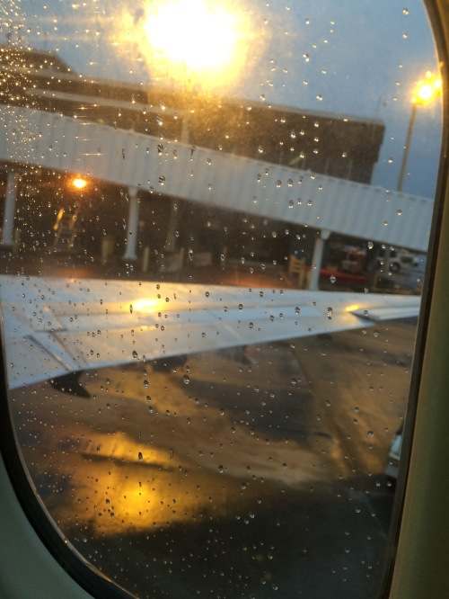 View from my airplane window as my plane prepared for take off from Minneapolis MN.  Left rainy and snowy weather for Maryland.